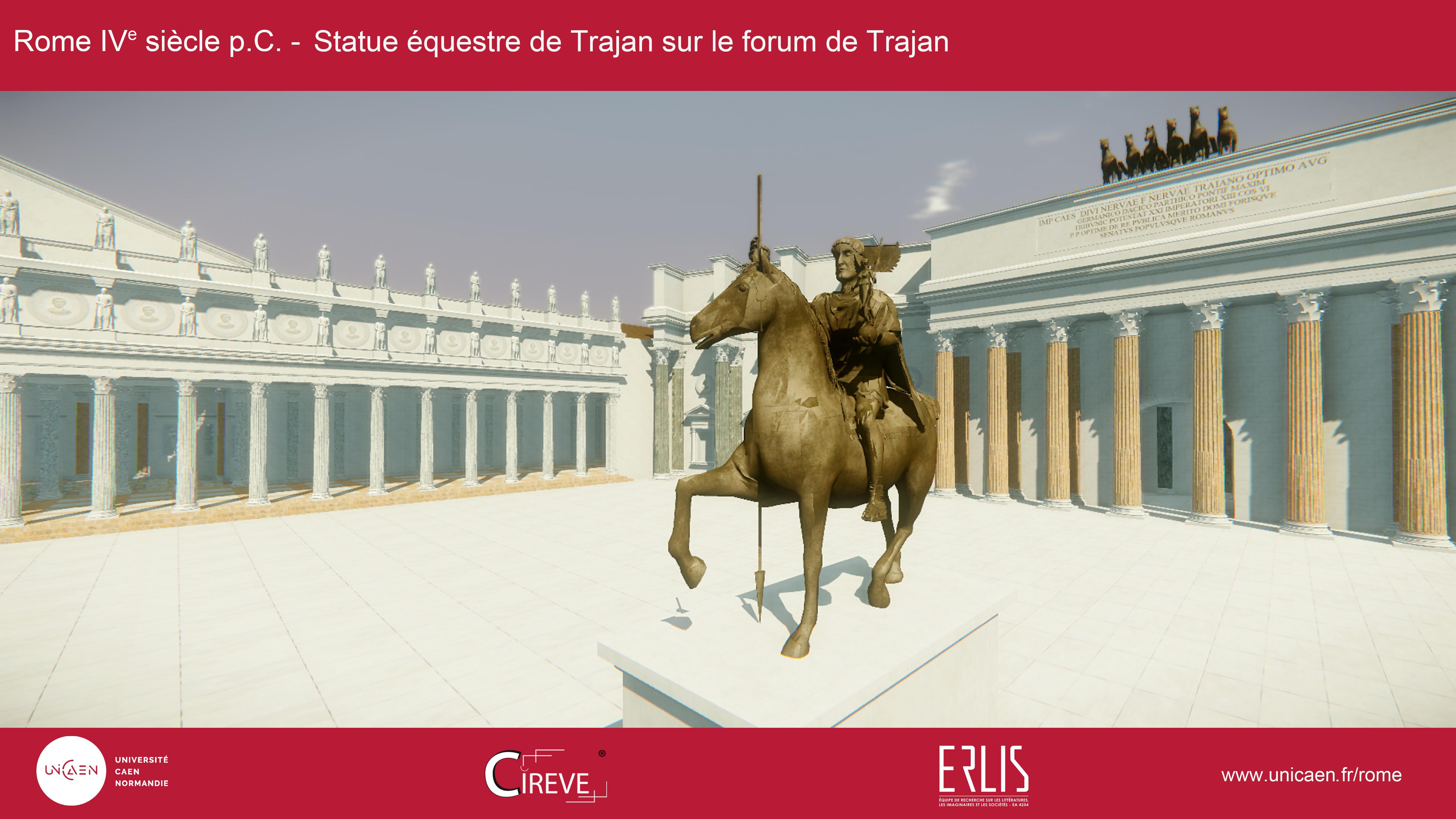Statue équestre de Trajan