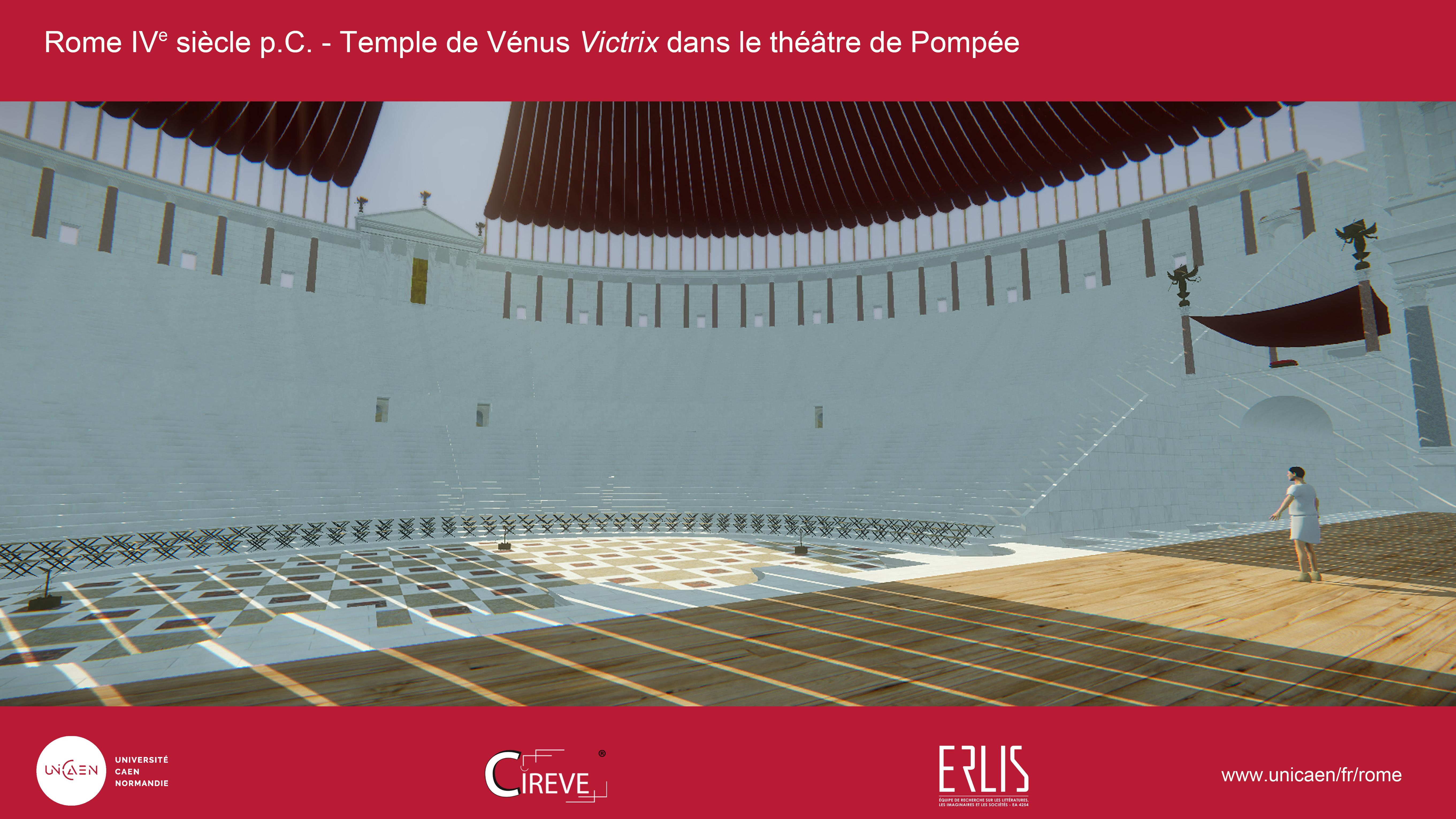 Temple de Vénus Victrix dans le théâtre de Pompée
