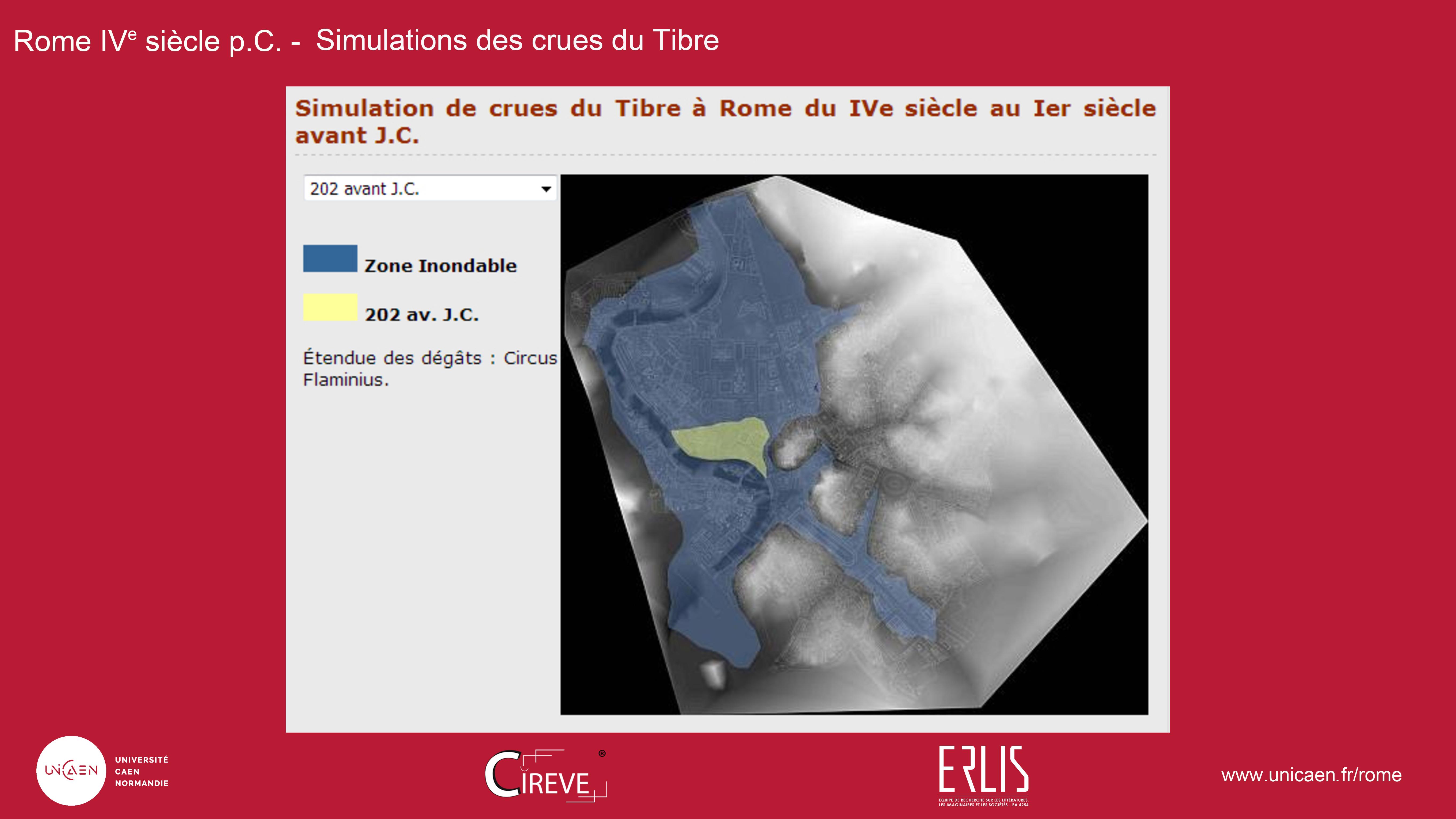 Simulation des crues du Tibre