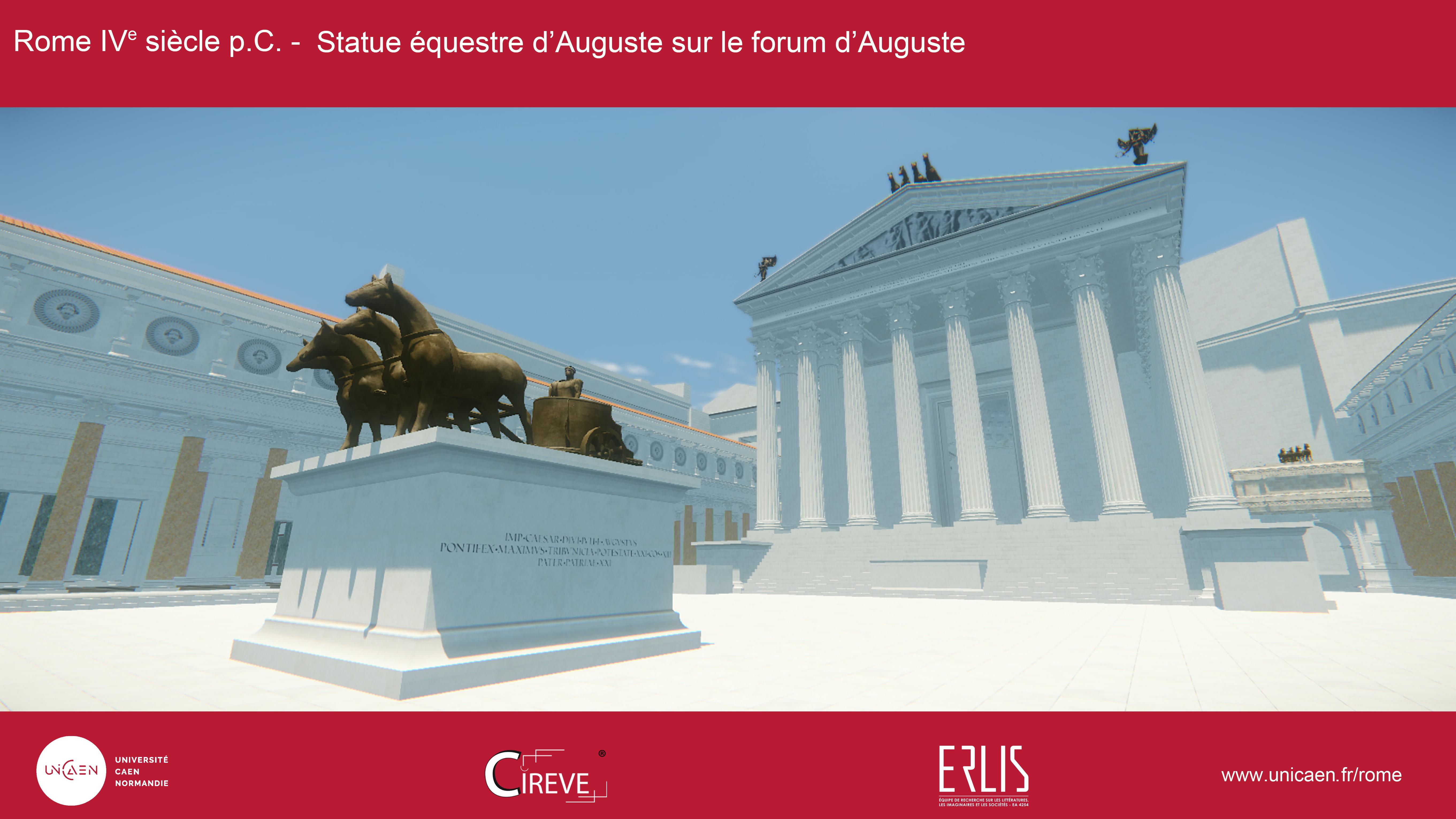 statue équestre d'Auguste sur le forum d'Auguste