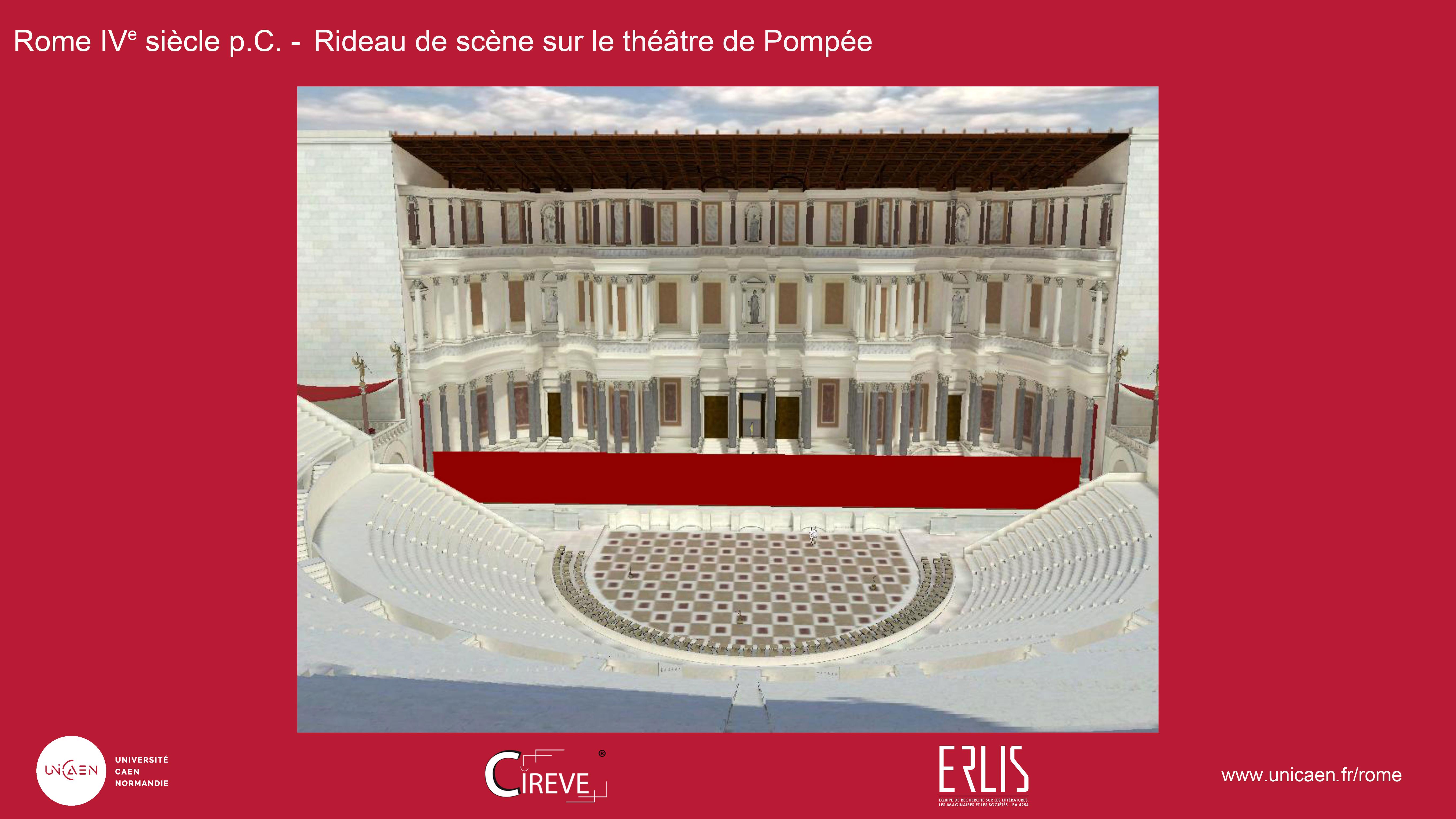 Rideau de scène du théâtre de Pompée