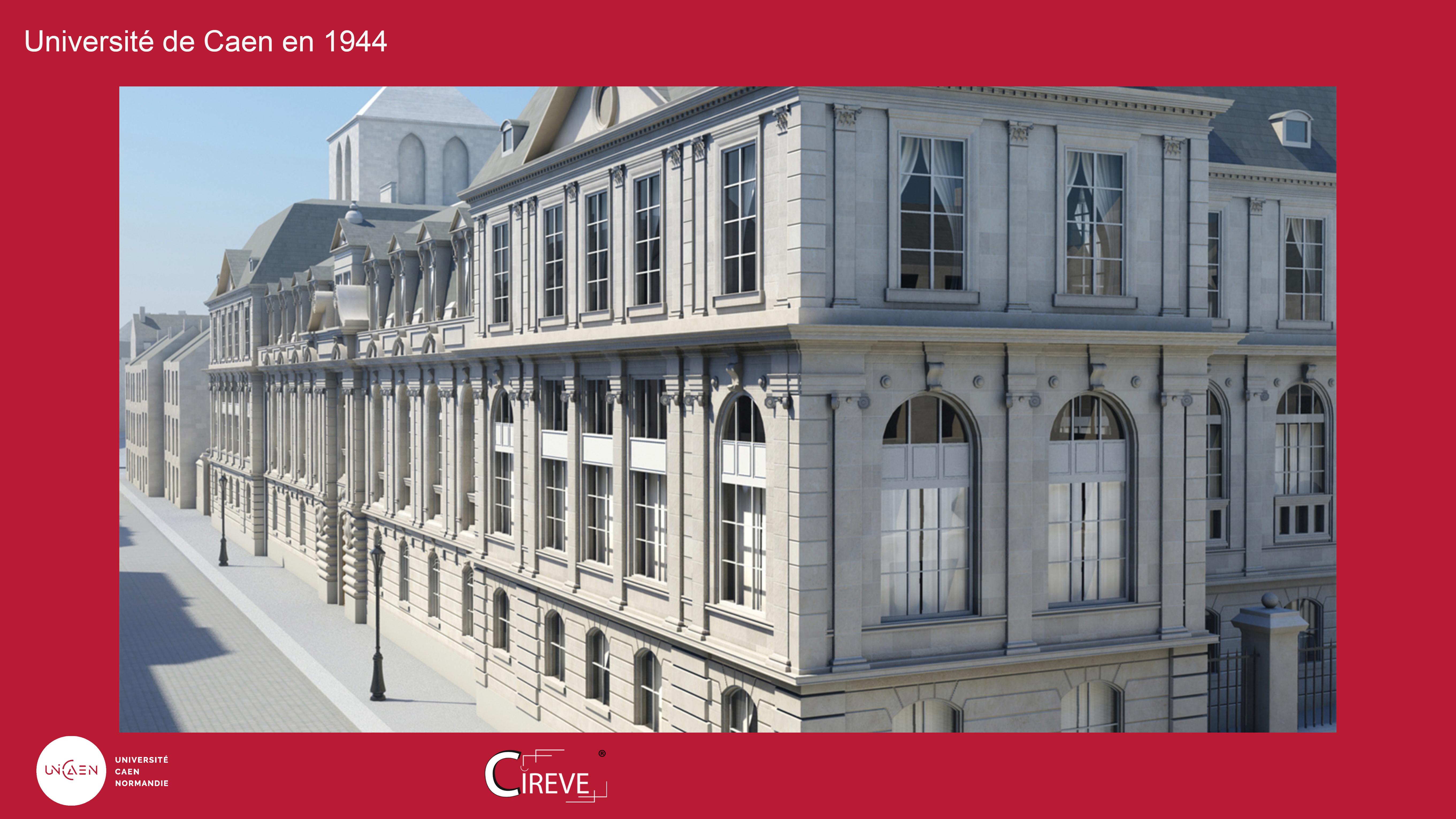 Université de Caen Normandie en 1944