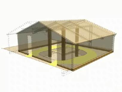 Bâtiment de bois de Saint-Martin