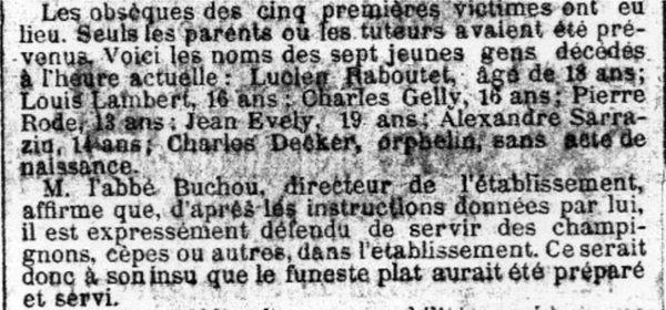 Fig. 14. Extrait du journal La petite Gironde du 10 octobre 1884.