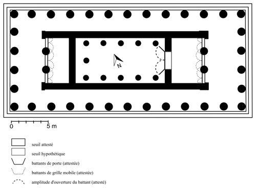 Fig. 8. Athènes, Héphaistéion. Plan restitué (dessin M. Dromain).