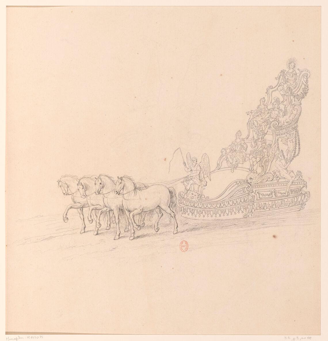 Première journée des Plaisirs de l'Ile enchantée. Le char d'Apollon, conduit par le Temps
