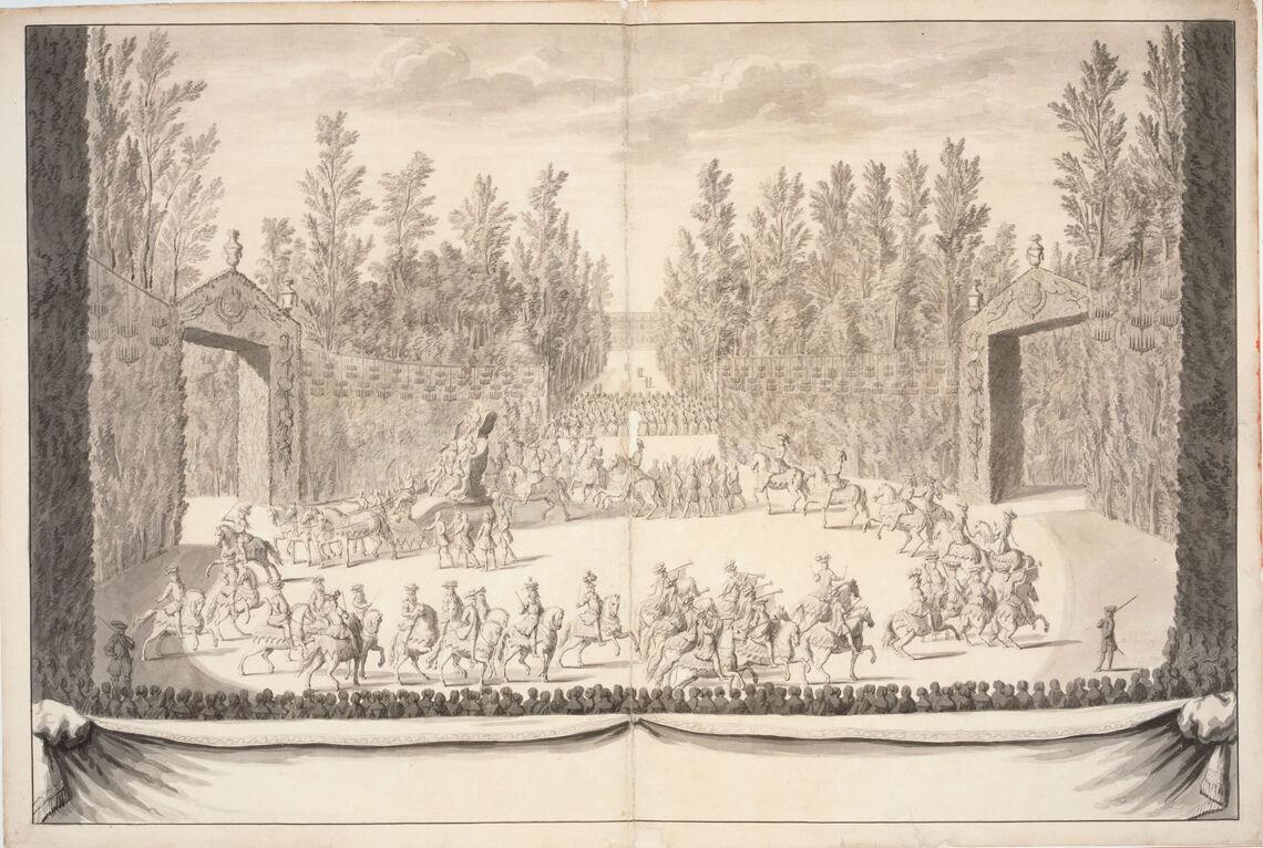 Premiere journée des Plaisirs de l'ile enchantée. Marche du roi et de ses chevaliers