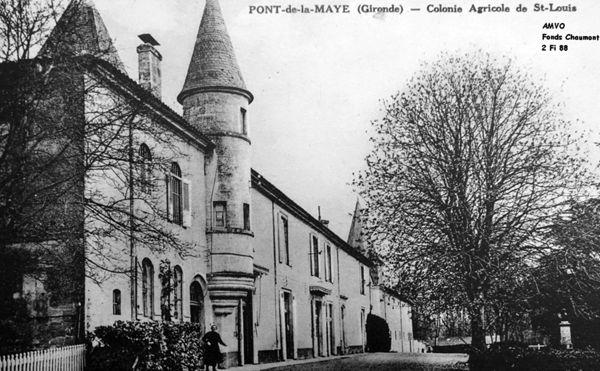 Fig. 11. Carte postale Colonie agricole de Saint-Louis (Source : Archives municipales de Villenave-d'Ornon. Fonds Chaumont).